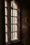 Chrystus Kościelna szkoła wyższa - stary okno Obrazy Royalty Free