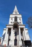 Chrystus kościół Spitalfields Zdjęcia Stock