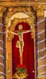 Chrystus krzyża klasztoru Niepokalanego poczęcia magdalenki San Miguel Meksyk Obraz Stock
