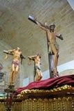 Chrystus na Kalwaryjskim, Świętym tygodniu w Baeza, Jaen prowincja, Andalusia, Hiszpania Zdjęcia Royalty Free