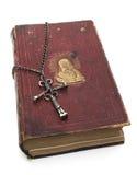 Chrystus na Religijnej książce Fotografia Royalty Free