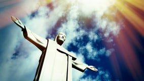 Chrystus odkupiciel statua w Ro De Janeiro Zdjęcie Stock