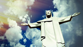 Chrystus odkupiciel statua w Ro De Janeiro Obraz Royalty Free