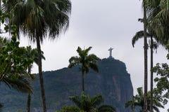 Chrystus odkupiciel, statua, wkładająca w ramie rtees Fotografia Stock