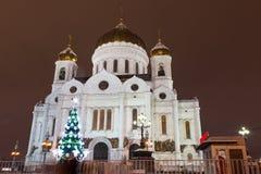 Chrystus wybawiciel katedra, Moskwa, Rosja, nowy rok, boże narodzenia Zdjęcia Stock