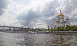 Chrystus wybawiciela Katedralny dzień, Moskwa, Rosja Fotografia Royalty Free