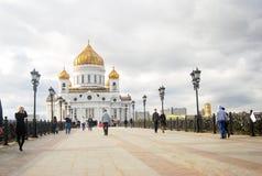 Chrystus wybawiciela kościół w Moskwa, Rosja Zdjęcia Stock