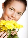 chryzantem kobiety kolor żółty Zdjęcia Stock
