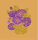 Chryzantema kwiatu karty szablonu projekt Zdjęcia Royalty Free