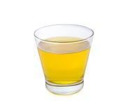 Chryzantemy herbata w szkle na bielu Obraz Royalty Free