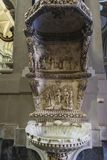 Chrzcielna chrzcielnica Palermo katedra w Palermo, Sicily, Włochy Zdjęcia Royalty Free