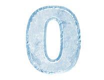 chrzcielnica lód liczba zero Zdjęcie Stock