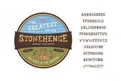 Chrzcielnica Stonehedge Ilustracji