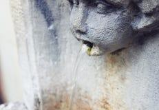 Chrzcielnica z twarz kształtem obraz royalty free