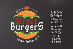 Chrzcielnicy ulicy hamburger Ilustracja Wektor