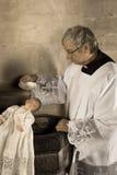Chrzczący dziecko w sepiowym Fotografia Royalty Free