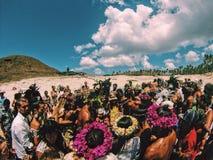 Chrzczenie przy Wschodnią wyspą Zdjęcie Royalty Free