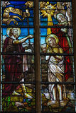Chrzczenie świętym John Fotografia Royalty Free