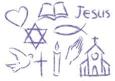 chrześcijańscy symbole Fotografia Royalty Free