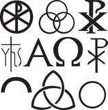 chrześcijańscy ustaleni symbole Fotografia Stock