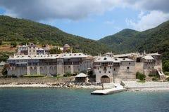 Chrześcijańska świątynia morzem na górze Athos Fotografia Royalty Free