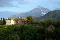 Chrześcijańska świątynia na górze Athos Fotografia Stock