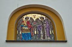 Chrześcijańska ortodoksyjna ikona na monasteru wejściu, Serbia Zdjęcie Royalty Free