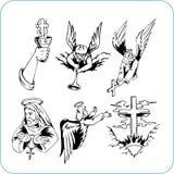 Chrześcijańska religia - wektorowa ilustracja. Obrazy Royalty Free