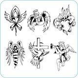 Chrześcijańska religia - wektorowa ilustracja. Obraz Royalty Free