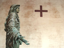 Chrześcijańska statua kobieta Obrazy Stock