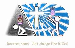 Chrześcijański ładunek Jesus royalty ilustracja