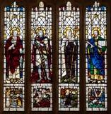 Chrześcijański świętego witrażu okno Obraz Royalty Free