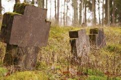 Chrześcijański cmentarz obraz stock