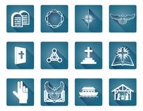 Chrześcijański ikona set Zdjęcie Royalty Free