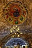 Chrześcijański ortodoksyjnego kościół podsufitowy metro w solankowej kopalni w HDR Zdjęcie Royalty Free