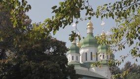 Chrześcijański ortodoksyjny Ñ  hurch i drzewa zdjęcie wideo