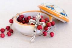 Chrześcijański różaniec Fotografia Stock
