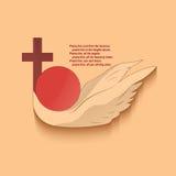 Chrześcijański religijny emblemat ilustracja wektor