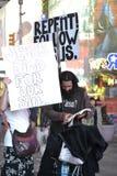 Chrześcijański Religijny Protestors NYC czasu kwadrat Obrazy Royalty Free