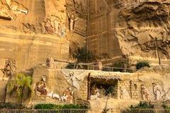 Chrześcijańskie świątynie w Egipt Bareliefy biblijna historia fotografia royalty free