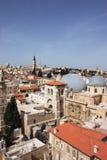 chrześcijańskiego miasta Jerusalem stara ćwiartka obrazy stock