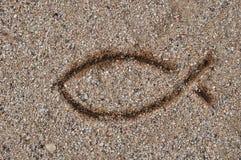 chrześcijaństwa ryba znaka symbol Fotografia Royalty Free
