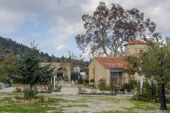 Chrześcijanin, Ortodoksalnego kościół zakończenie Grecja, Peloponessus obraz royalty free