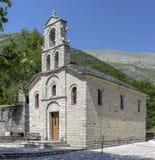 Chrześcijanin, Ortodoksalny kościół w górę Tzoumerka, Epirus, Grecja fotografia stock