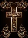 Chrześcijanin przecinająca sylwetka ilustracja wektor