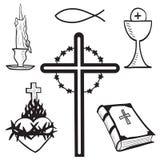 chrześcijanin rysujący ręki ilustraci symbole Zdjęcia Stock