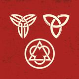Chrześcijanin symbole Trójca symbole ilustracja wektor