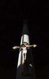 Chrześcijanina krzyż na filarze Zdjęcie Stock