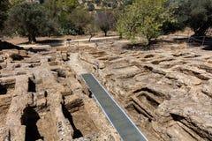 chrześcijanina Necropolis w dolinie świątynie Obrazy Stock