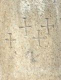 chrześcijanina przecinająca symboli/lów tekstura Obrazy Royalty Free